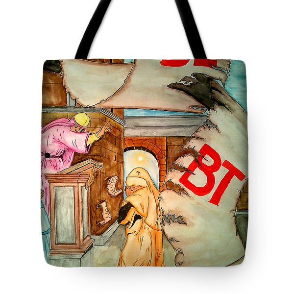 Nehemiah Page 5 Tote Bag by Justin Moore