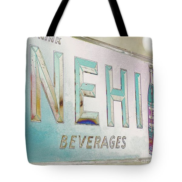 Nehi Ice Cold Beverages Sign Tote Bag by Liane Wright