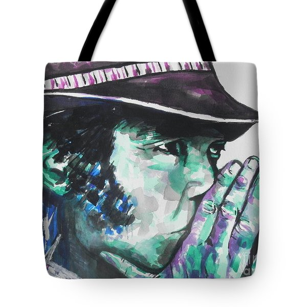 Neil Young Tote Bag by Chrisann Ellis