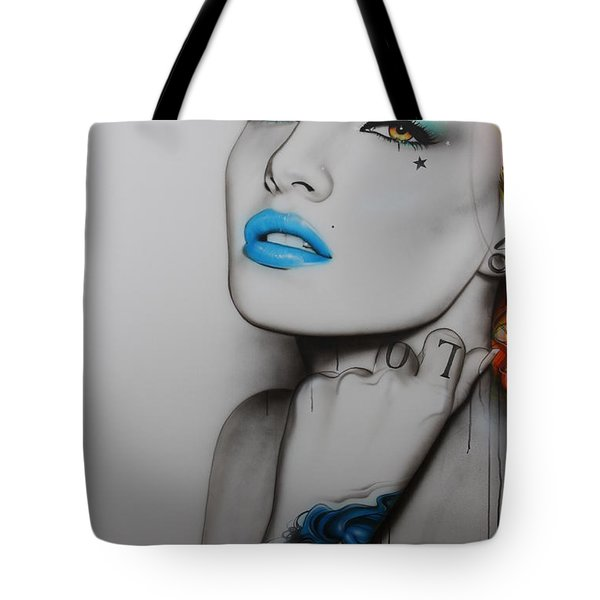'neon Day Of The Dead' Tote Bag by Christian Chapman Art