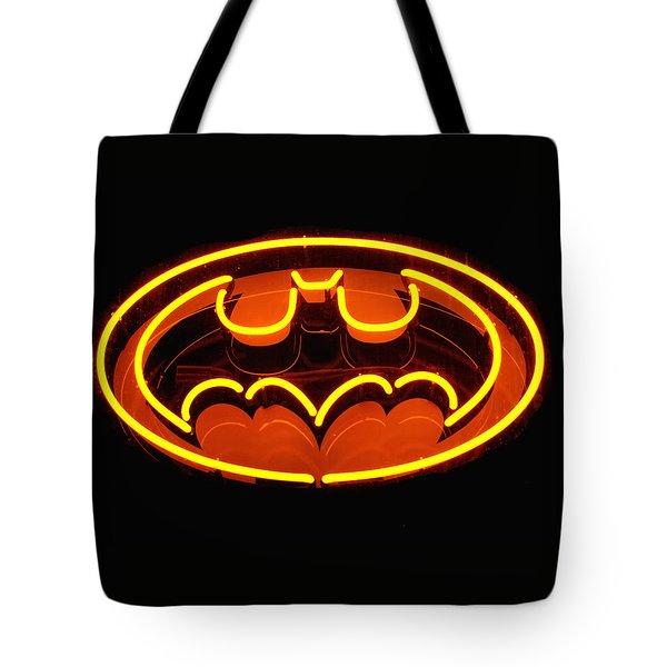 Neon Knight - Hero Rising Tote Bag by Steven Milner