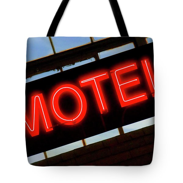 Neon Motel Sign Tote Bag by Mike McGlothlen