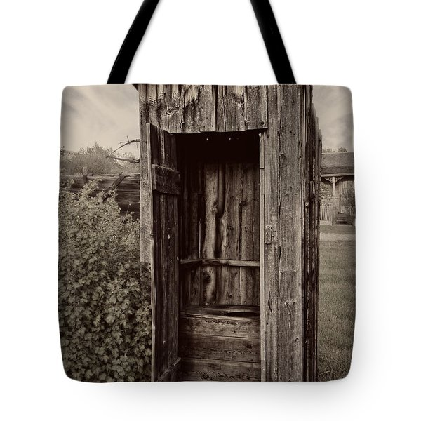 Nevada City Ghost Town Outhouse - Montana Tote Bag by Daniel Hagerman