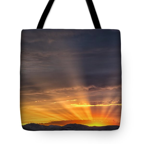 Nevada Sunset Tote Bag by Janis Knight