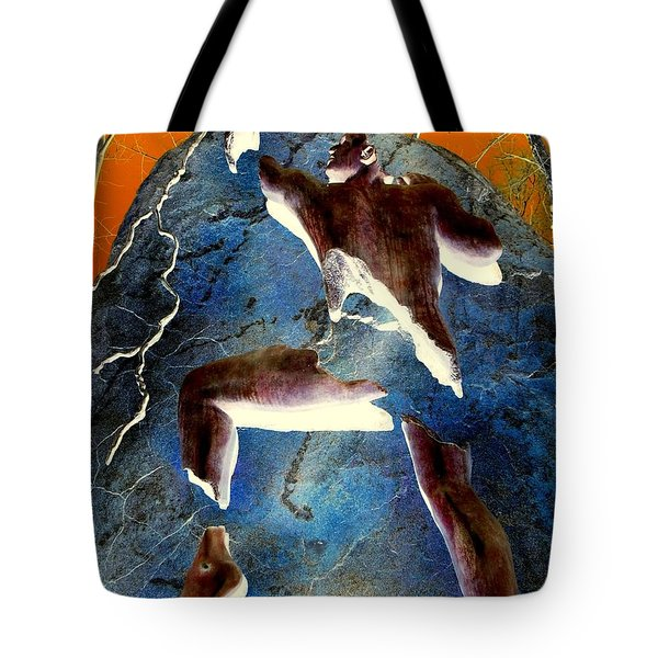 Never Give Up Tote Bag by Ed Weidman