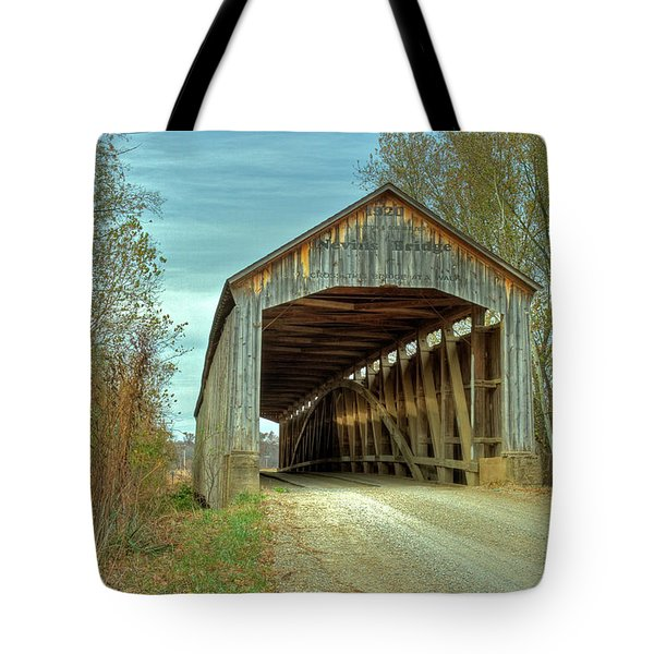 Nevins Covered Bridge Tote Bag by Jack R Perry