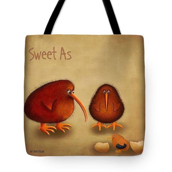 New Arrival. Kiwi Bird - Sweet As - Boy Tote Bag by Marlene Watson
