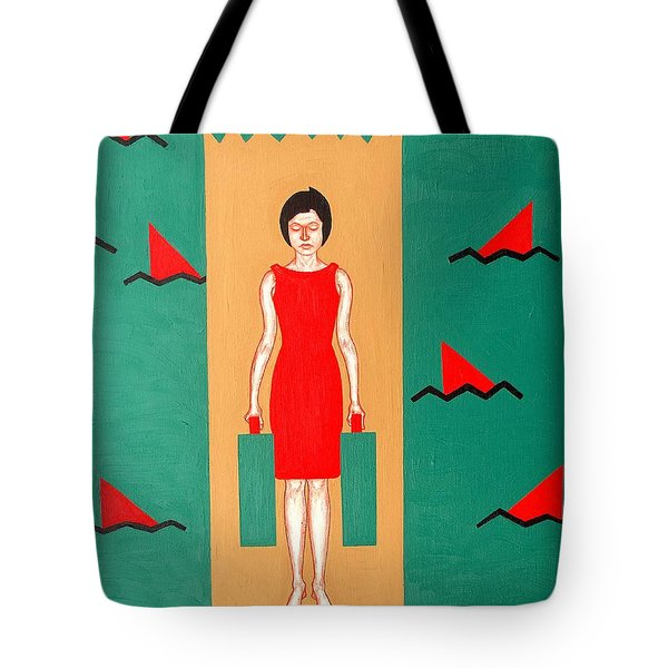 Shark Infested Water Tote Bag by Patrick J Murphy