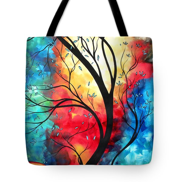 New Beginnings Original Art by MADART Tote Bag by Megan Duncanson