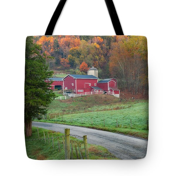New England Farm Square Tote Bag by Bill Wakeley
