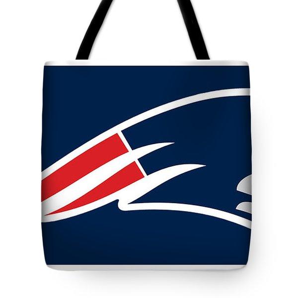New England Patriots Tote Bag by Tony Rubino