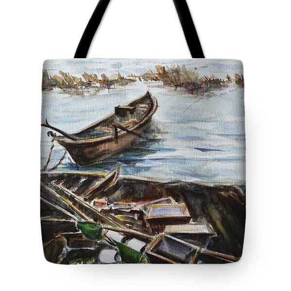 New England Wharf Tote Bag by Xueling Zou