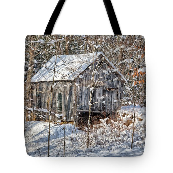 New England Winter Woods Tote Bag by Bill  Wakeley