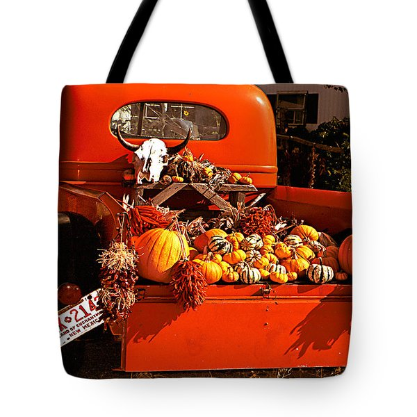 New Mexico Truck Tote Bag by Jean Noren