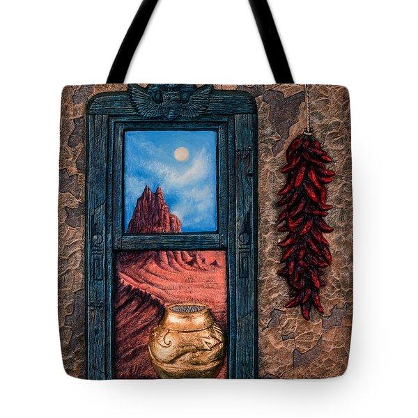 New Mexico Window Gold Tote Bag by Ricardo Chavez-Mendez
