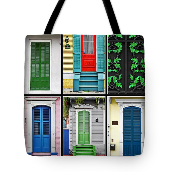 New Orleans Doors Tote Bag by Christine Till