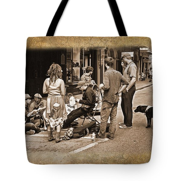 New Orleans Gypsies - Antique Tote Bag by Judy Vincent