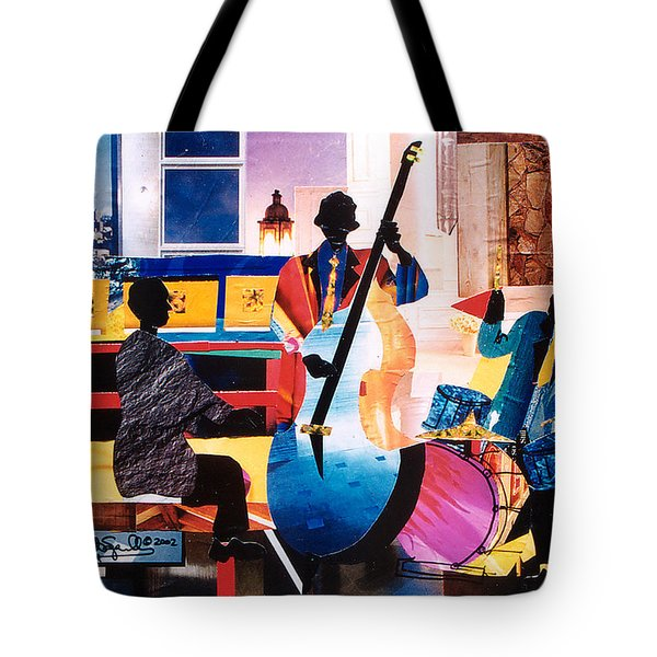 New Orleans Jazz Trio B Tote Bag by Everett Spruill