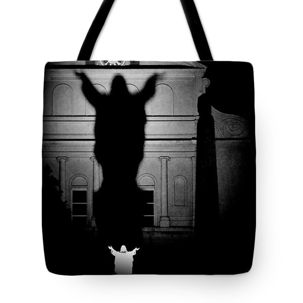 New Orleans Sacred Heart Of Jesus Tote Bag by Christine Till