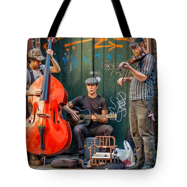 New Orleans Street Musicians Tote Bag by Steve Harrington