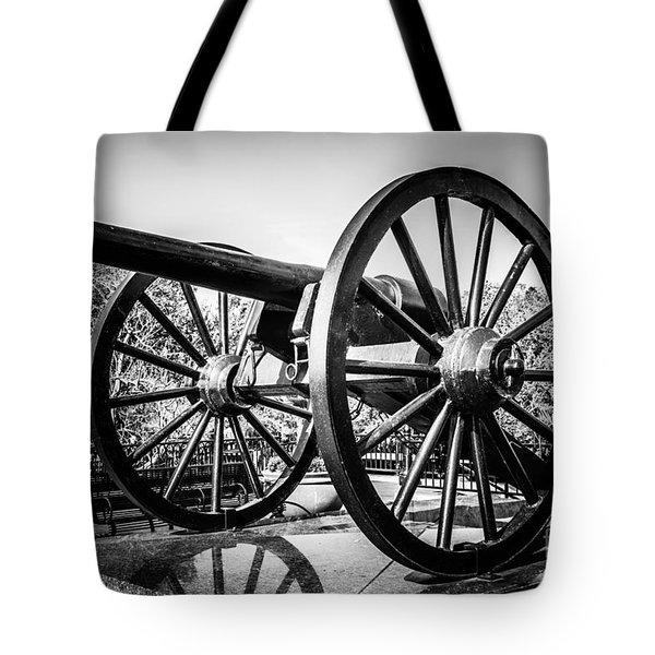 New Orleans Washington Artillery Park Cannon Tote Bag by Paul Velgos