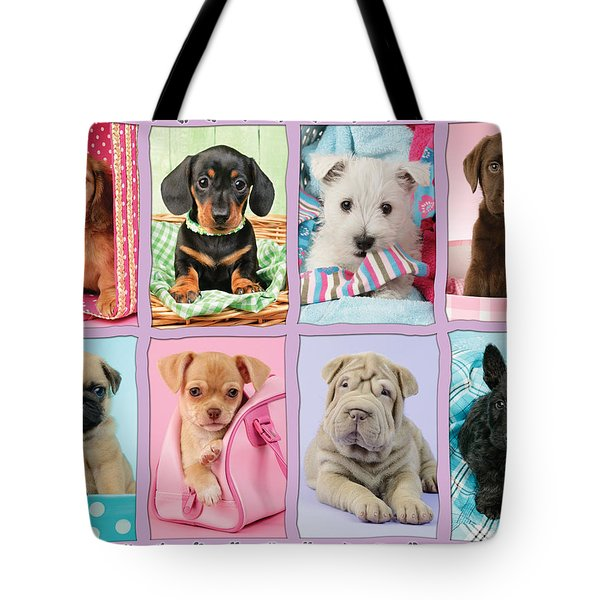 New Puppy Multipic Tote Bag by Greg Cuddiford