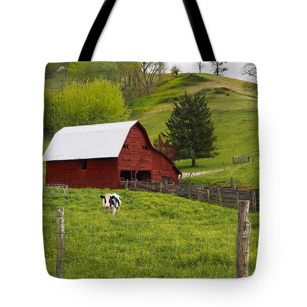 New Red Paint Tote Bag by Mike McGlothlen