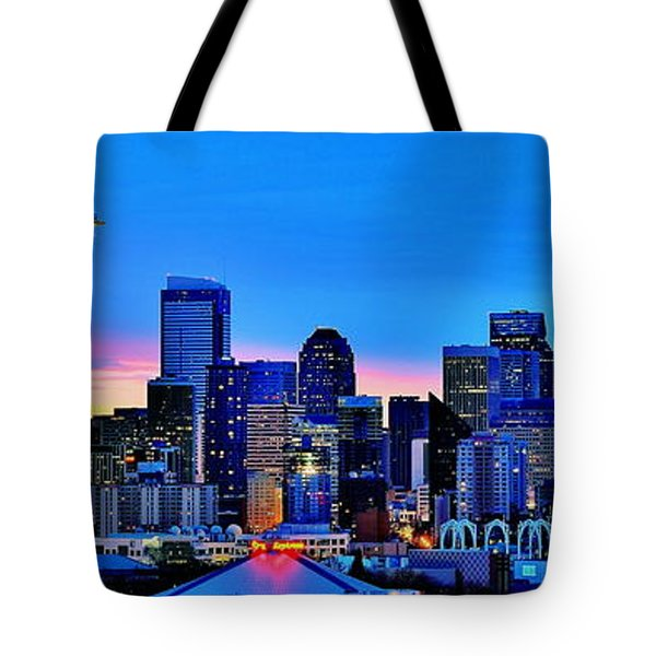 New Seattle Day Tote Bag by Benjamin Yeager