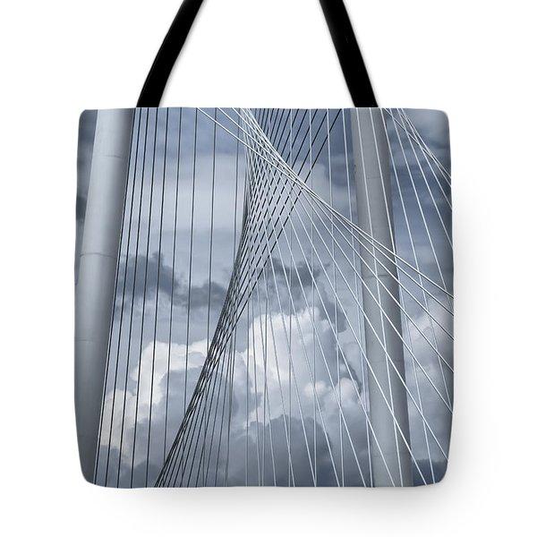 New Skyline Bridge Tote Bag by Joan Carroll