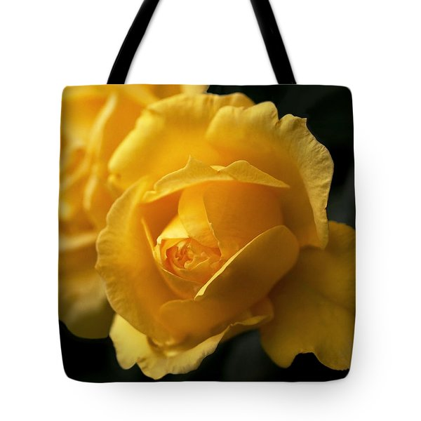 New Yellow Rose Tote Bag by Rona Black