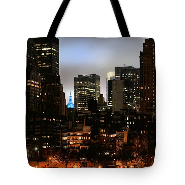 New York City Blue Tote Bag by JC Findley