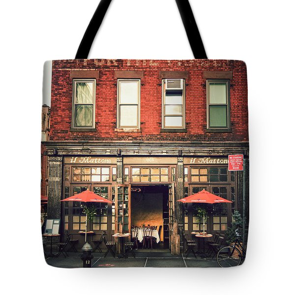 New York City - Cafe In Tribeca Tote Bag by Vivienne Gucwa