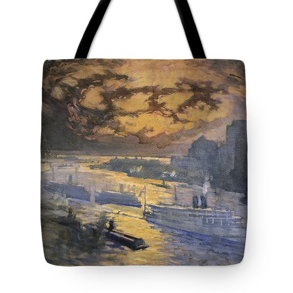New York City Circa 1921 Tote Bag by Aged Pixel