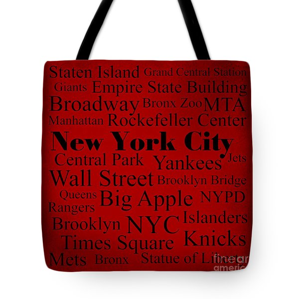 New York City Tote Bag by Denyse and Laura Design Studio