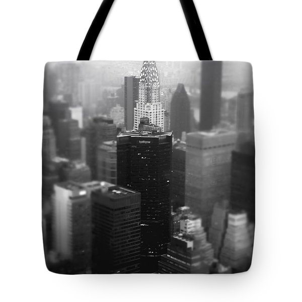 New York City - Fog And The Chrysler Building Tote Bag by Vivienne Gucwa