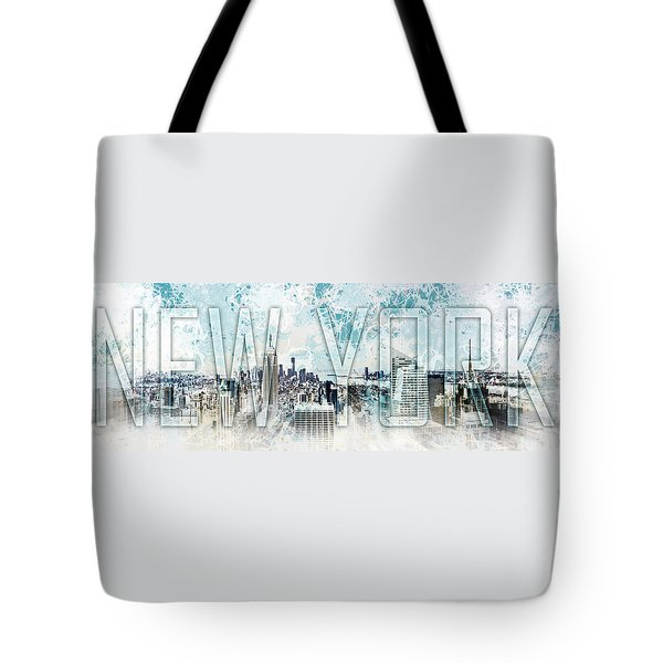 New York Digital-art No.1 Tote Bag by Melanie Viola