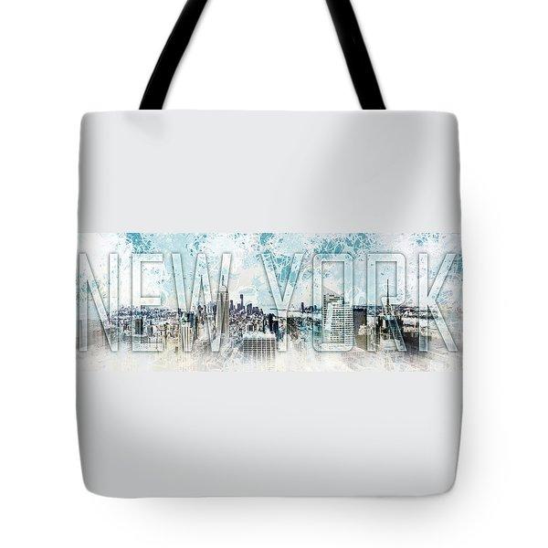 NEW YORK Digital-Art No.1 Tote Bag by Melanie Viola