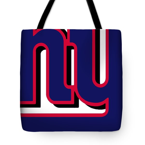 New York Giants Football 2 Tote Bag by Tony Rubino