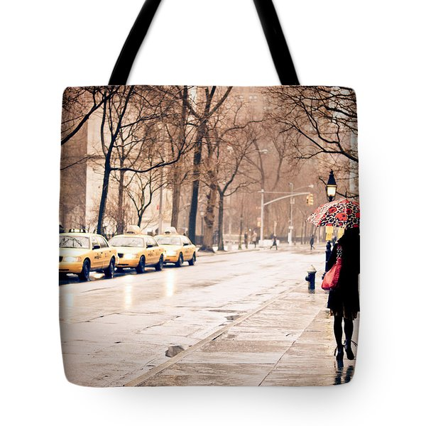 New York Rain - Greenwich Village Tote Bag by Vivienne Gucwa