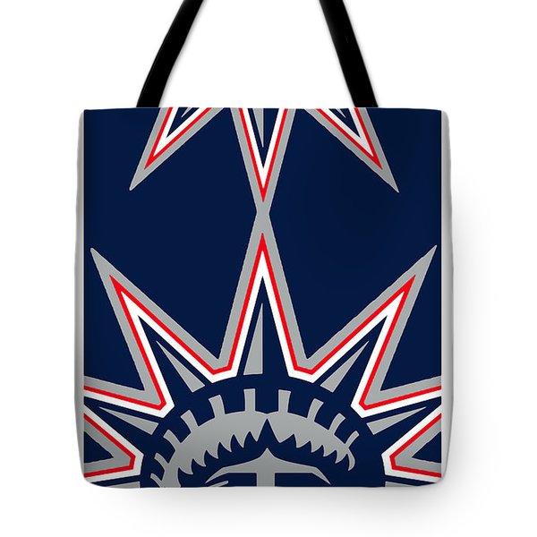 New York Rangers Tote Bag by Tony Rubino