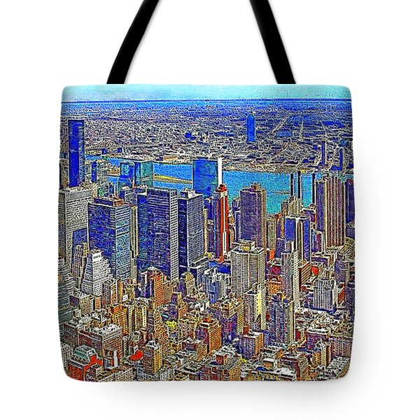 New York Skyline 20130430 Tote Bag by Wingsdomain Art and Photography