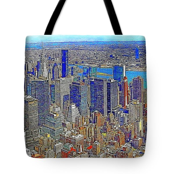 New York Skyline 20130430v3 Tote Bag by Wingsdomain Art and Photography