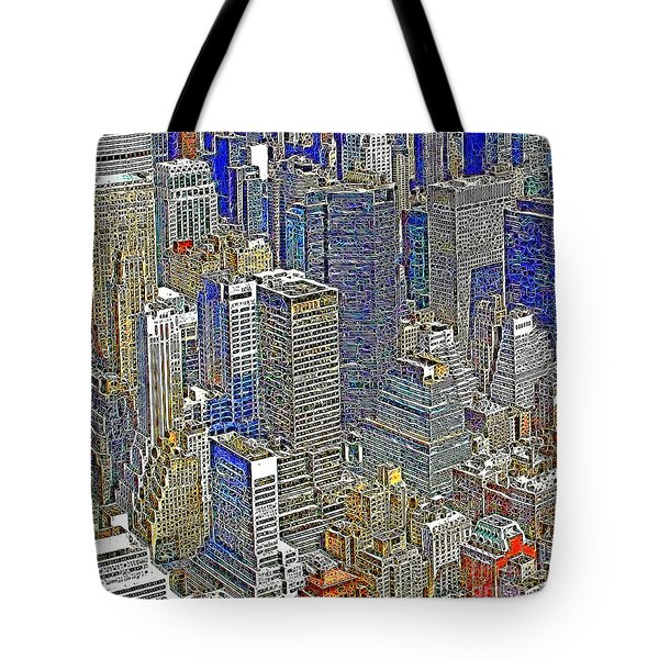 New York Skyline 20130430v5-square Tote Bag by Wingsdomain Art and Photography