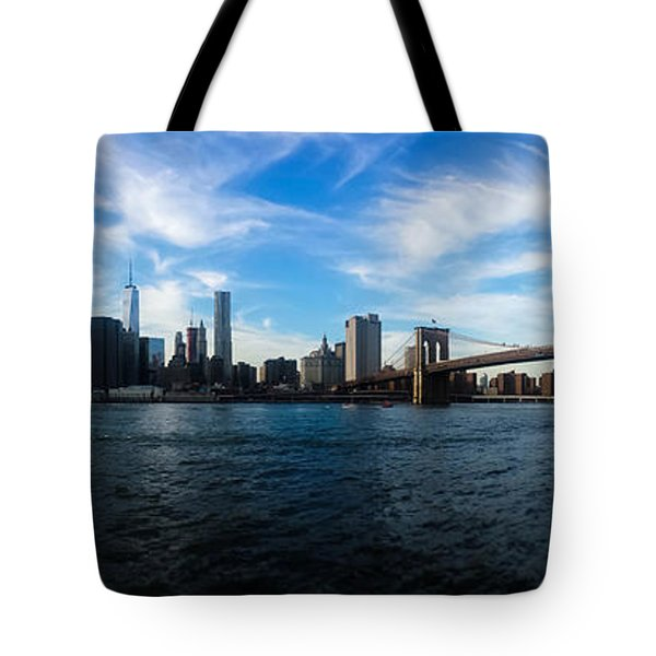 New York Skyline - Color Tote Bag by Nicklas Gustafsson