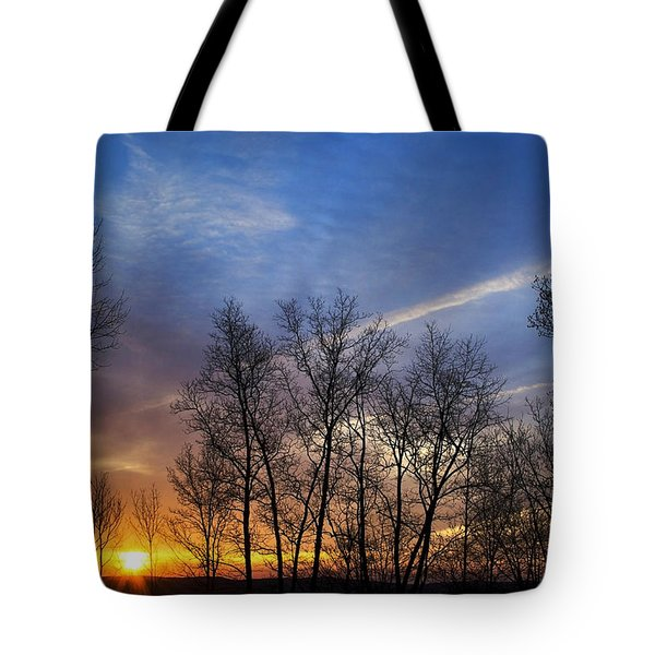 New York Sunset Tote Bag by Christina Rollo