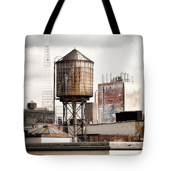 New York Water Tower 16 Tote Bag by Gary Heller