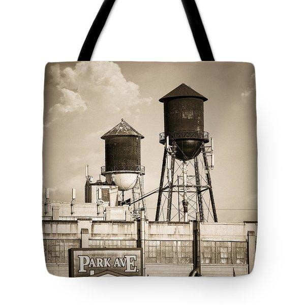 New York Water Tower 8 - Williamsburg Brooklyn Tote Bag by Gary Heller