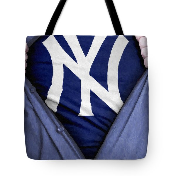 New York Yankees Fan Tote Bag by Antony McAulay