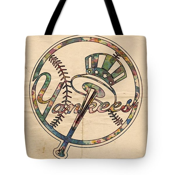 New York Yankees Poster Vintage Tote Bag by Florian Rodarte