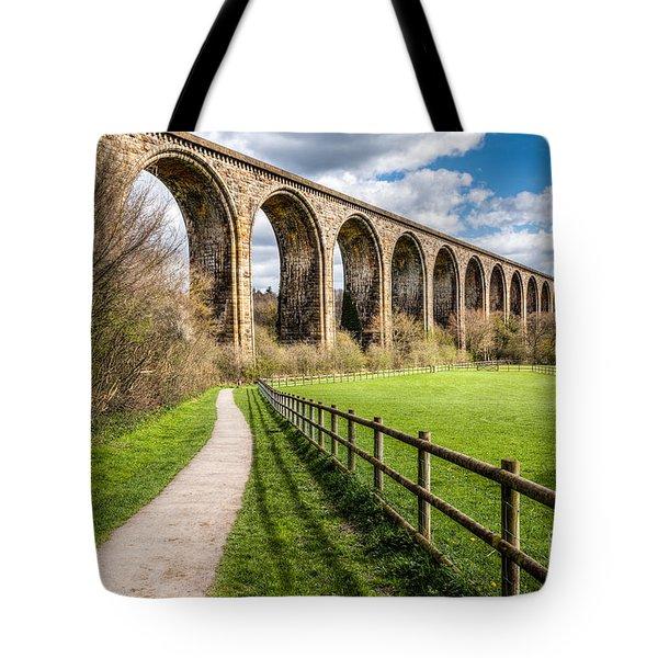 Newbridge Viaduct Tote Bag by Adrian Evans